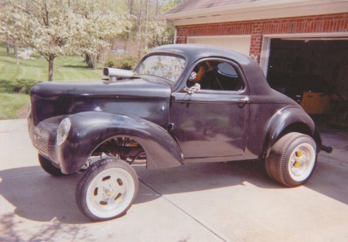 for sale 1940 willys old school gasser steel body 41 glass nose and